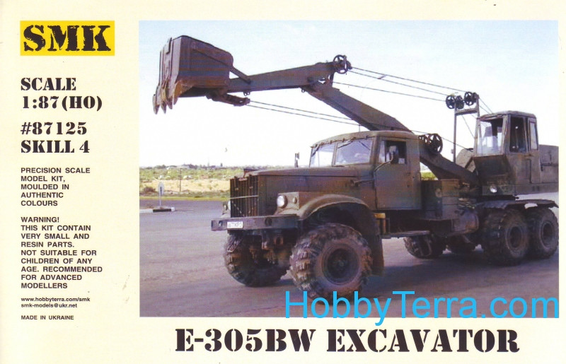 Excavator E-305BW on Kraz 255