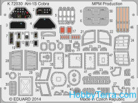 Photo-etched set 1/72 for AH-1S Cobra, for Special Hobby kit