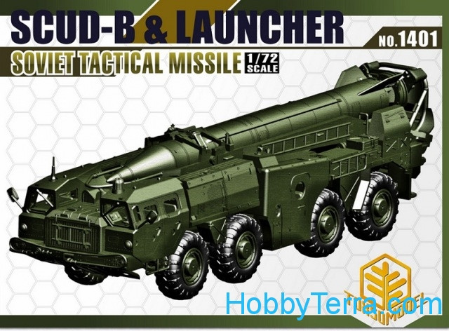 SCUD-B & Lancher Soviet tactical missile