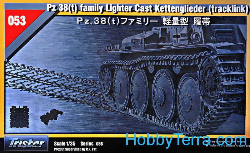 "Tracks for Pz.38(t) family ""Lighter Cast Kettenglieder"""