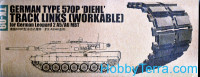 German type 570P 'Diehl' Workable track links
