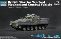 British Warrior tracked combat vehicle