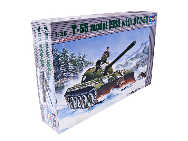 Trumpeter  00313 T-55 tank, model 1958 year  with BTU-55