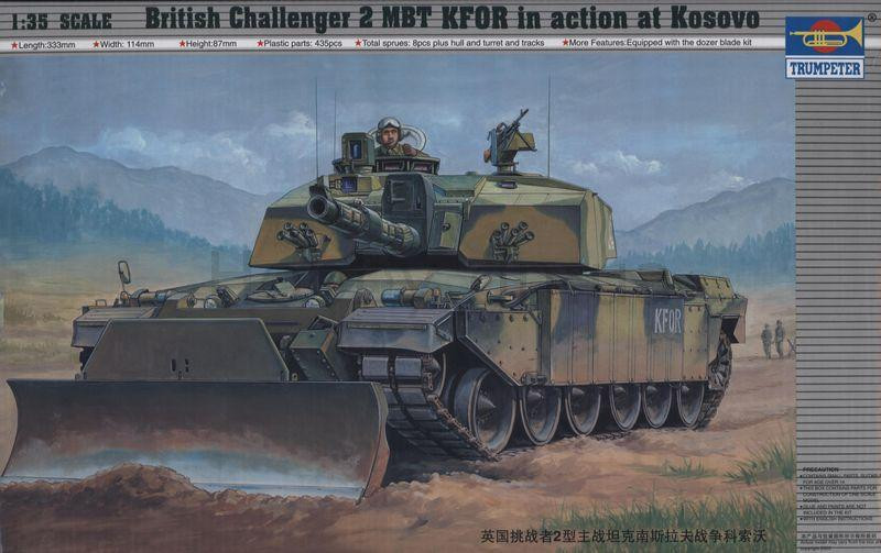 British Challenger 2 MBT KFOR in action at Kosovo