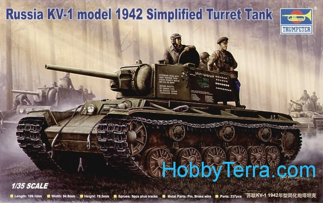 Russia KV-1 model 1942 Simplified Turret Tank