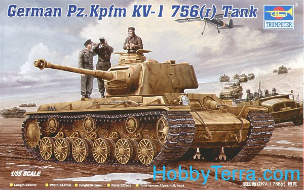 German tank Pz.Kpfm KV-1(captured) 756 (r)