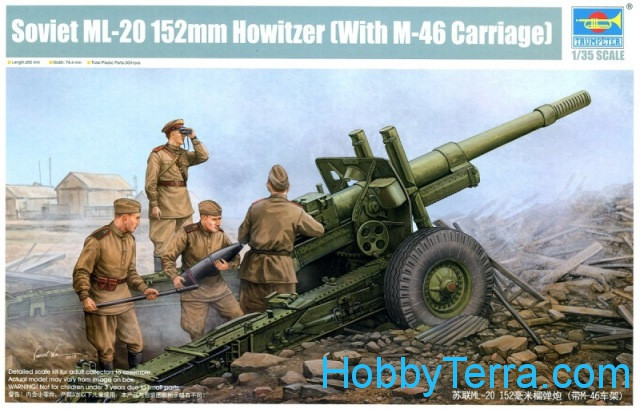Trumpeter  02324 Soviet 152mm howitzer ML-20 with M-46 carriage