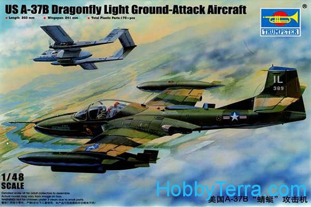U.S. A-37B Dragonfly ground-attack aircraft