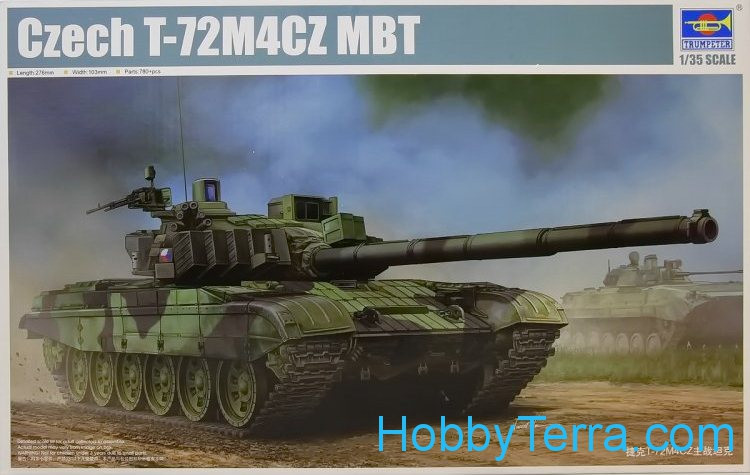 Trumpeter  05595 Czech T-72M4CZ main battle tank