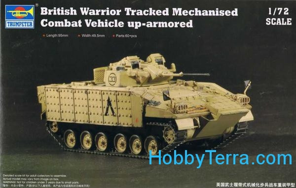 British Warrior tracked mechanised combat vehicle up-armored