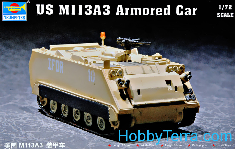 Trumpeter  07240 US M113A3 armored car