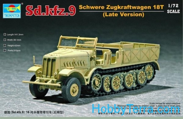 German Sd.Kfz.9 Schwere Zugkraftwagen 18t (Late Version)