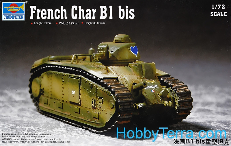 Trumpeter  07263 French Char B1 bis Heavy Tank