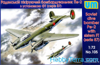 Pe-2 Soviet dive bomber with system FT (87 series)