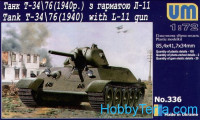 T-34/76 WW2 Soviet tank (1940) with L-11 gun