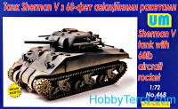 Sherman V tank with 60lb aircraft rocket