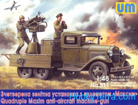 Quadruple Maxim AA MG on GAZ-AAA chassis
