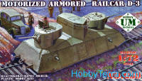 Motorized armored railcar D-3