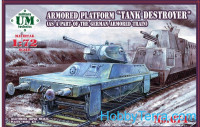 "Armored platform ""Tank destroyer"" (as part of the German armored train)"