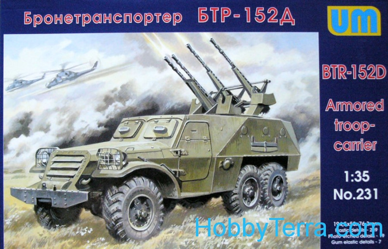 UM  231 BTR-152D Soviet armored troop-carrier