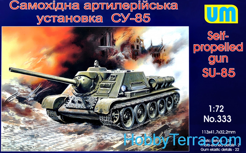 UM  333 SU-85 WW2 Soviet self-propelled gun