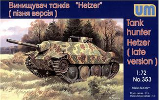 Hetzer WWII German tank hunter, late