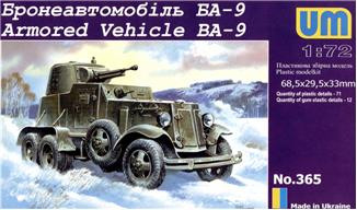 UM  365 Ba-9 Soviet armored vehicle
