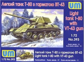 UM  393 Light Tank T-80 gun BT-43