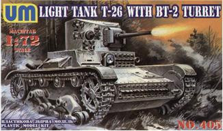 UMmt  405 T-26/BT-2 Soviet light tank