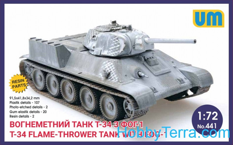 T-34 flame-throwing tank with FOG-1