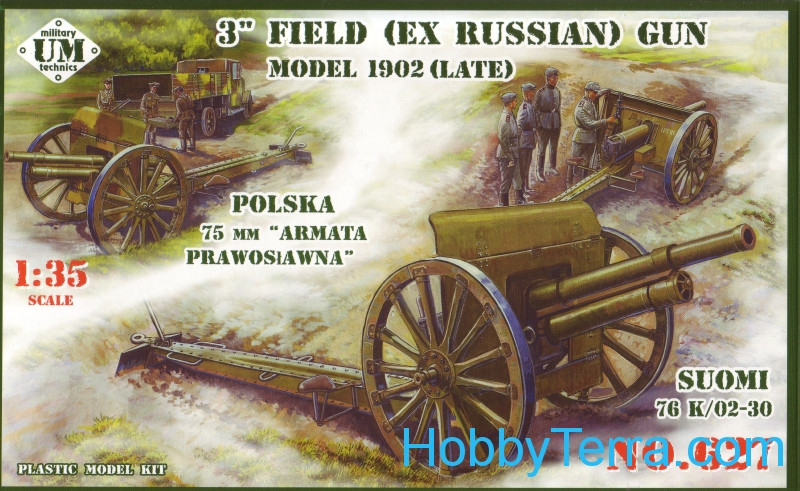 UMmt  627 3' field (ex russian) gun, 1902 (late)