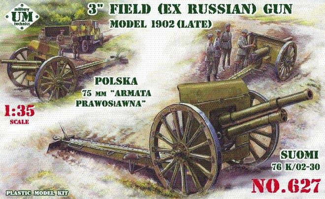 3inch (ex Russian) field gun, model 1902 (late)