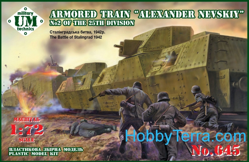 "UMmt  645 Armored train ""Alexander Nevskiy"" No.2 of the 25th division (The battle of Stalingrad 1942)"
