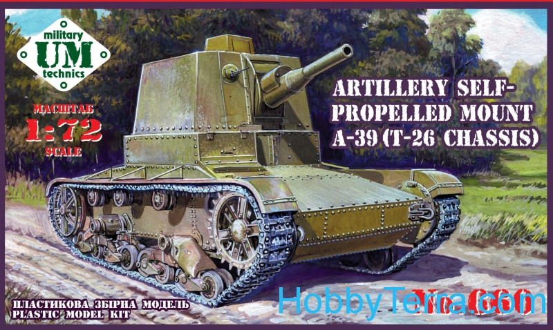 UMmt  660 A-39 (T-26 chassis) Soviet self-propelled gun