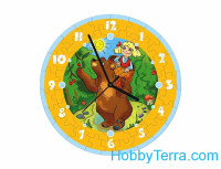 "Puzzle-clock ""Masha and the Bear"", paper model"