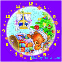 "Puzzle-clock ""Christmas dreams"", paper model"