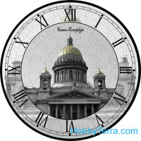 "Puzzle-clock ""St. Isaac's Cathedral"", paper model"