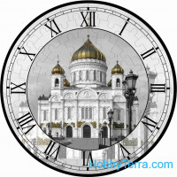 "Puzzle-clock ""Christ the Savior Cathedral"", paper model"