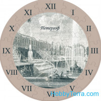 "Puzzle-clock ""Peterhof"", paper model"