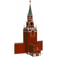 Spasskaya Tower of Moscow Kremlin, paper model