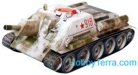 Self-propelled gun SU-122 paper model (Snap fit)