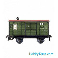 Temporarily and baggage car. Paper model