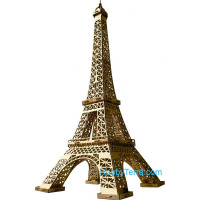 Eiffel Tower (gold) paper model (Snap fit)