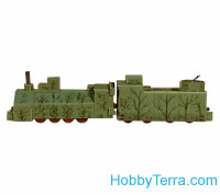 Armored locomotive, paper model