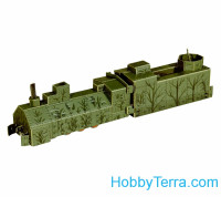 Umbum  302 Armored locomotive, paper model