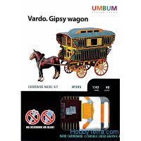 Vardo.Gypsy wagon, cardboard kit