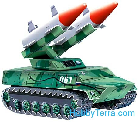Umbum  061 Anti-aircraft missile system, paper model