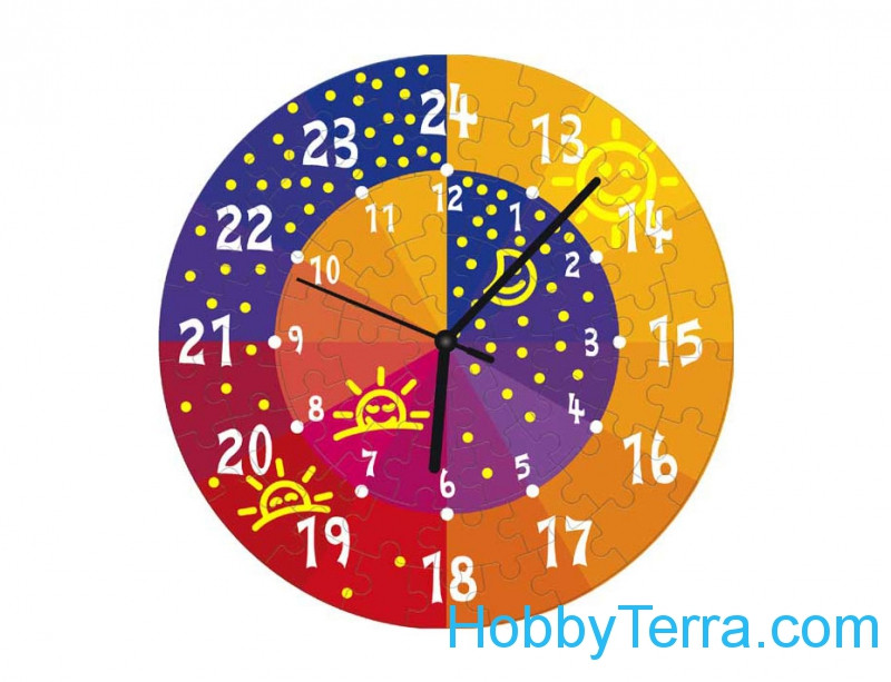 "Umbum  126-06 Puzzle-clock ""Day and night"", paper model"