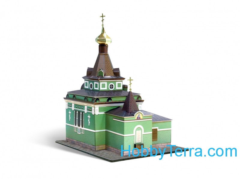 Chapel of the Xenia of St.Petersburg, paper model (Snap fit)