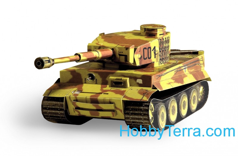 "Umbum  198-01 Tank Pz.Kpfw VI ""Tiger"" paper model (Snap fit)"